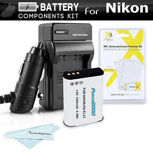 Battery And Charger Kit For Nikon COOLPIX B700, P900, P61...