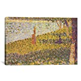 Museum quality Women on the River Bank (Femmes au bord de l'eau) By Georges Seurat Canvas Print. The art piece comes gallery wrapped, ready for wall hanging with no additional framing required. This print is also available in multi-piece or oversized...