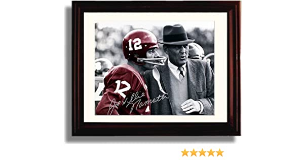 Amazon.com  Framed Alabama Football Spotlight - Joe Namath   Bear Bryant  Autograph Replica Print  Home   Kitchen b218112a3