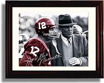 Image Unavailable. Image not available for. Color  Framed Alabama Football  Spotlight - Joe Namath   Bear Bryant Autograph ... 43b4fc763