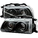 honda crx black - Spyder Auto Honda Civic/CRX Black Halogen Projector Headlight