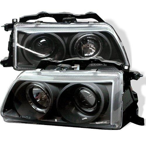(Spyder Auto Honda Civic/CRX Black Halogen Projector Headlight )