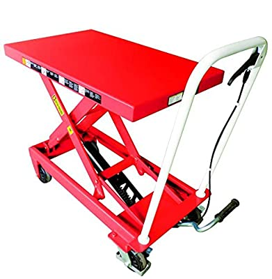 "Giant Move MP-EA22 Heavy Duty Lift Table, 500 lb. Capacity, 28.5"" Maximum Table Height, Orange"