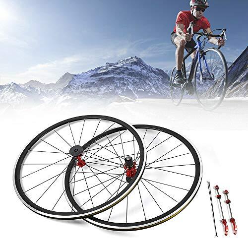 GDAE10 Bicycle Wheel Set, 700C Bicycle Bike Front Rear Wheel Kit Aluminium Rim 30mm Brake C/V (2018 New!!)