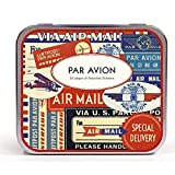 24 Pages of Cavallini Par Avion Vintage Air Mail Stickers Assorted Styles (100+ stickers)