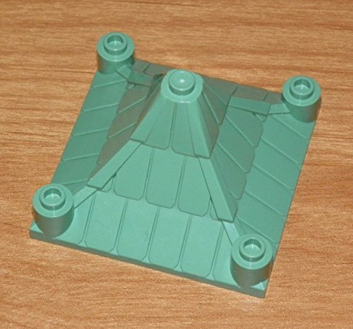 LEGO 4706 - HARRY POTTER - Roof Piece 6 x 6 Pyramid Peaked - Sand Green.