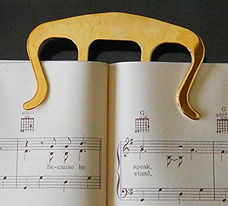 Music Book Clip Page Holder for Sheet Music Stands Pianos Musicians