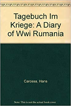 Book Tagebuch im Kriege: A Diary of WWI Rumania