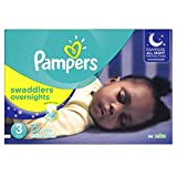 Pampers Swaddlers Overnights Disposable Diapers Size 3, 72 Count, SUPER (Packaging May Vary)