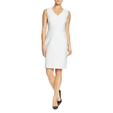 5debc76438d Image Unavailable. Image not available for. Color  Hugo Boss BOSS Dictana   V-Neck Ponte Sheath Dress ...