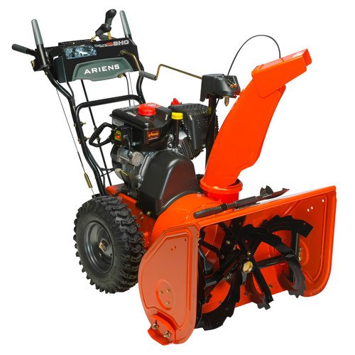 Snow blower with heated handle grips.