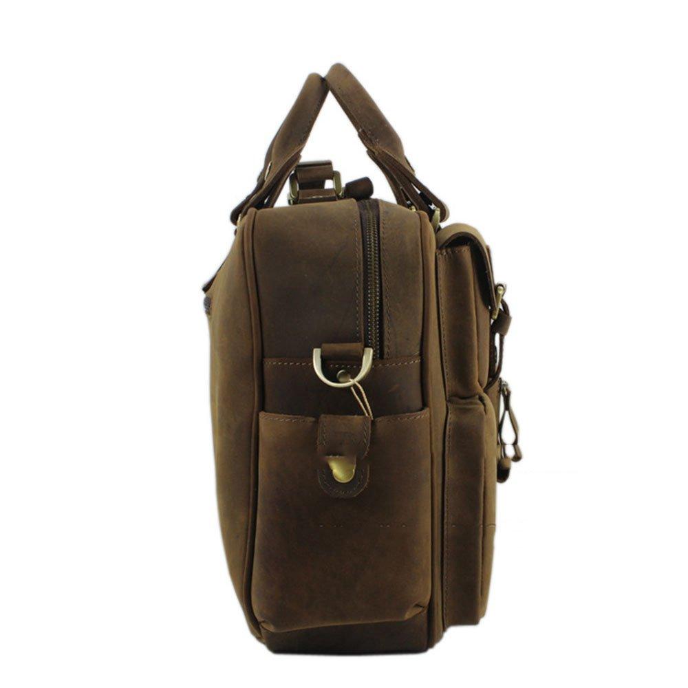 Color : Brown Travel Duffel Portable Travel Bags Mens Duffel Bag Genuine Leather Shoulder Bags Crossbody Bag Gym Sports Luggage Bag