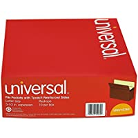 Universal 5 1/4 Expansion File Pockets, Straight Tab, Letter, Redrope/Manila, 10/Box (15262)