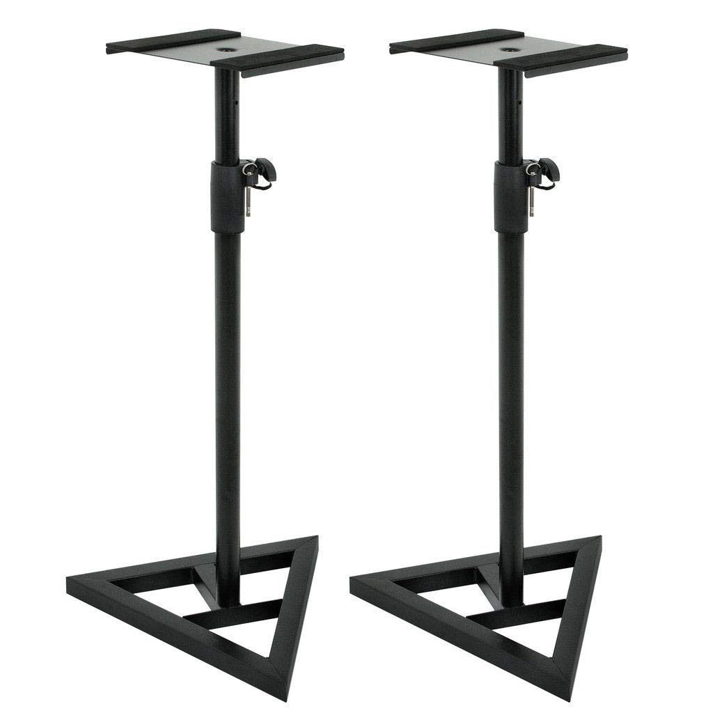 TG888 Speaker Stand, 1 Pair Studio Monitor Speaker Stand Adjustable 7 Differen Height Concert Home Heavy Duty by TG888Warehouse