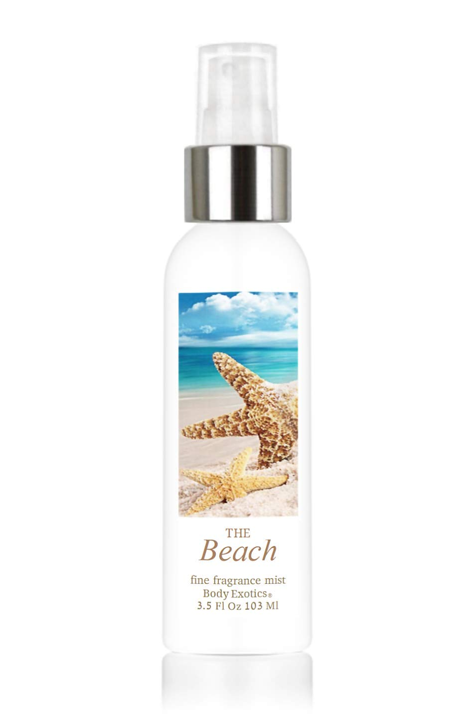 Beach Perfume Fine Fragrance Cologne Mist by Body Exotics 3.5 Fl Oz 103 Ml ~ a Fresh Blend of Warm Sand, Sea Spray, Driftwood, Lavender, Bright Citrus, Sand Jasmine, White Musk, Coconut, and Sea Salt