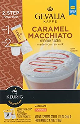 Gevalia Caramel Macchiato K-Cup Packs and Froth Packets, 6 Count