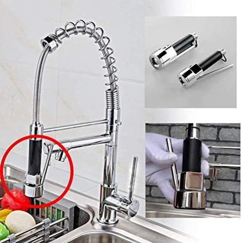 WCY Küchenarmatur Wasserhahn Ausziehbare 360 Grad;drehbar mit 2 Strahlarten - Einhebelmischer Wannen-Mischer Messing verchromt Mischbatterie (mit 2 Spray) - Schwarz yqaae (Color : Mit Brause)