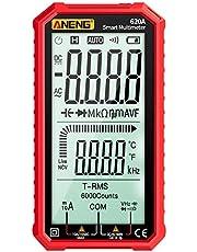 Tomshin Visor LCD de 4,7 polegadas Multímetro digital AC / DC Multímetro True-RMS ultraportável Multímetro de alcance automático com Amp Volt Ohm Capacitância Continuidade Temperatura Freqüência Testes de diodo Testador NCV