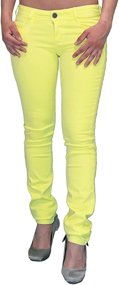 Cimarron Pantalons Femme Slim Cassis Rasoly Jaune Sunny