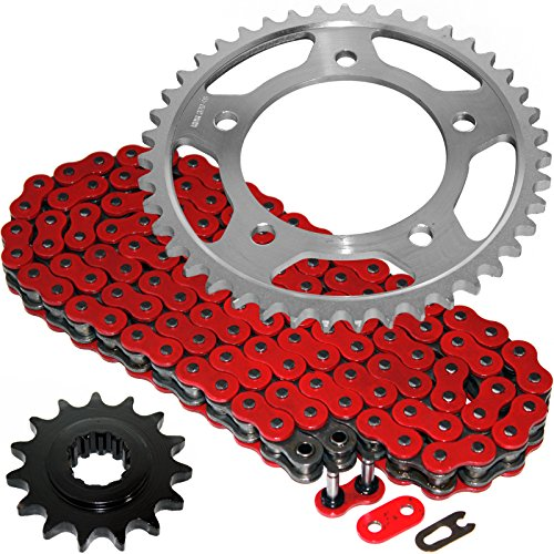 Caltric Red O-Ring Drive Chain & Sprockets Kit Fits HONDA CBR600F2 CBR-600F2 Super Sport 600F2 1991-1994 Honda Cbr600f2 Cbr