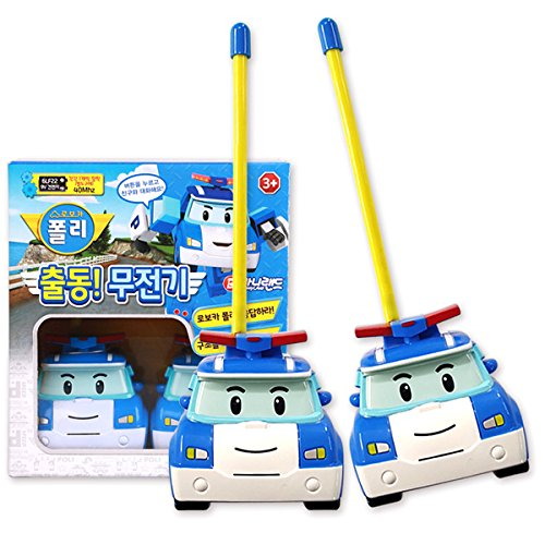 Kids Walkie Talkies, Robocar Poli Character Walkie Talkie for Kids