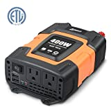 Ampeak 400W Power Inverter DC 12V to 110V AC Car Charger with Dual USB (3.1A shared) Car Converter