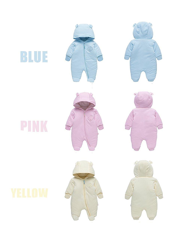 LJ Unisex-Baby Hoodie Fleece Pram Snowsuit