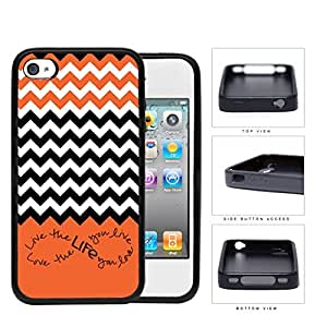 Love The Life You Live Infinity Sign Rubber Silicone TPU Cell Phone Case Apple iPhone 4 4s