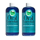 Oral Essentials Dry Mouth Mouthwash Formula Pack of 2 (16 Oz.) Certified Non-Toxic & Dentist Recommended Less Dry Mouth in Two Weeks or Less