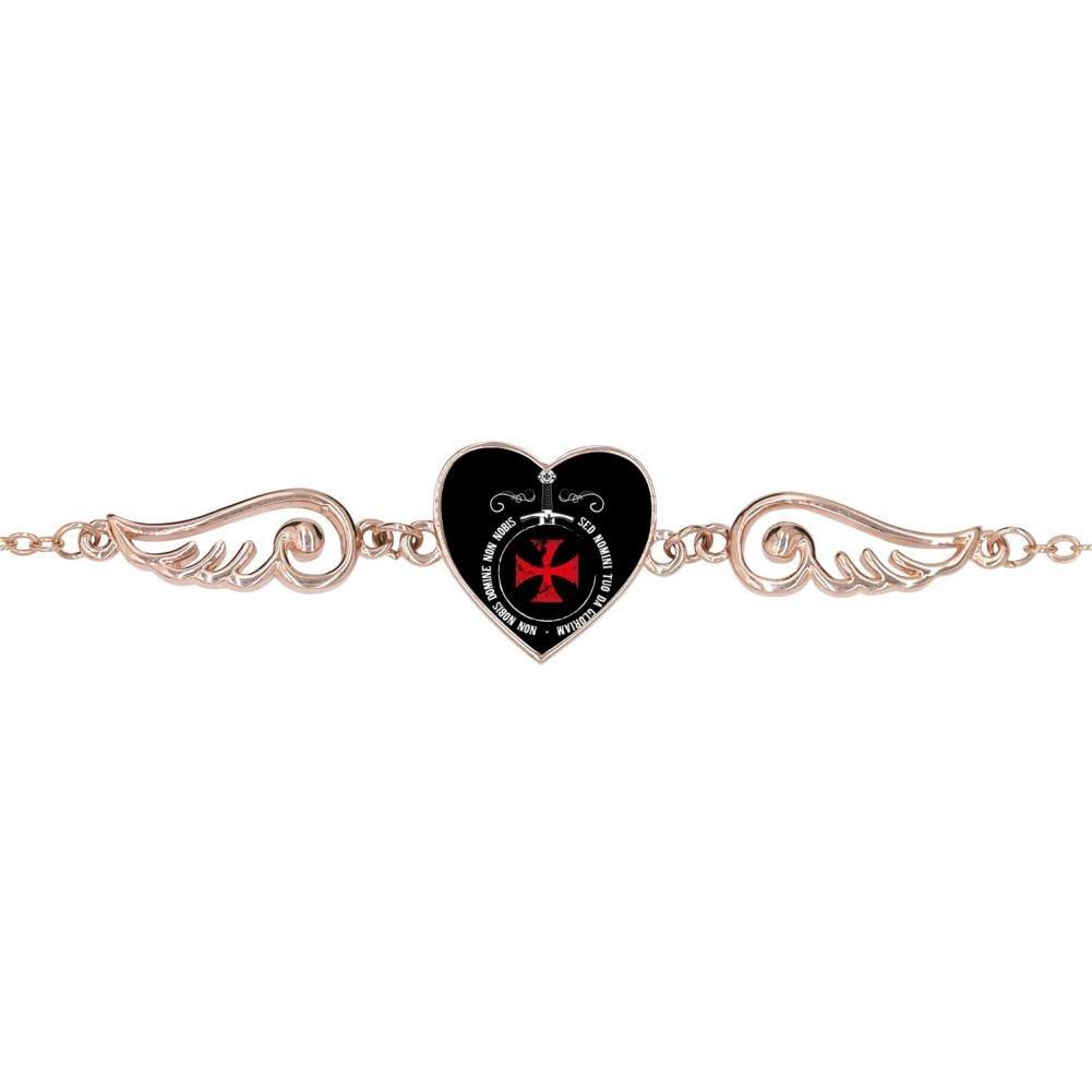 DDuDu Fashion The Knights Templar Heart-Shaped Lucky Bracelet Personalized Jewelry