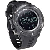 Pyle PSWWM82BK Digital Multifunction Sports Watch with Altimeter/Barometer/Chronograph/Compass and Weather Forecast (Black)