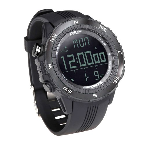 Pyle PSWWM82BK Digital Multifunction Sports Watch with Altimeter/Barometer/Chronograph/Compass and Weather Forecast (Black) - Altimeter Chronograph Watch