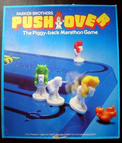 PUSH OVER Piggy-Back Marathon Game Parker Brothers 123