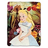 Northwest Disney Alice in Wonderland Garden Scene Micro Raschel Soft Cozy Throw Blanket