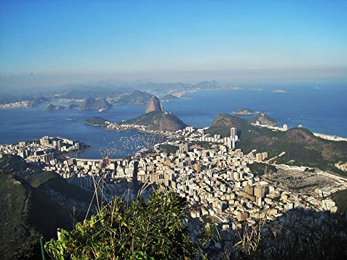 Home Comforts Peel-n-Stick Poster of Views of The Corcovado Rio De Janeiro Sugarloaf Vivid Imagery Poster 24 x 16 Adhesive Sticker Poster Print