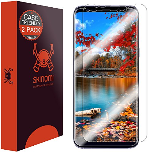 Price comparison product image Galaxy S8 Plus Screen Protector (2-Pack,Case Friendly), Skinomi TechSkin Full Coverage Screen Protector for Samsung Galaxy S8 Plus Clear HD Anti-Bubble Film