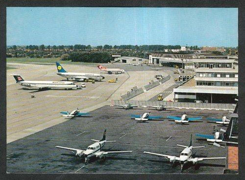 british-airways-lufthansa-planes-bremen-flighafen-airport-germany-postcard-1970s
