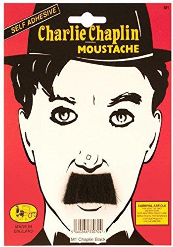 Adult Fancy Dress Party Charlie Chaplin Hitler Fake Artificial Tash Moustache (Artificial Moustache)