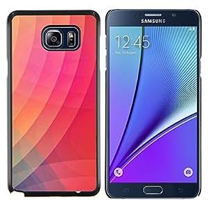 TaiTech/carcasa rígida de madera - gradiente de Color rosa moderno - rayas Samsung Galaxy Note 5 5th N9200