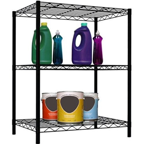 Classic Two Foot Track (3-Layer heavy Duty Steel Black Wire Shelf Organizer)