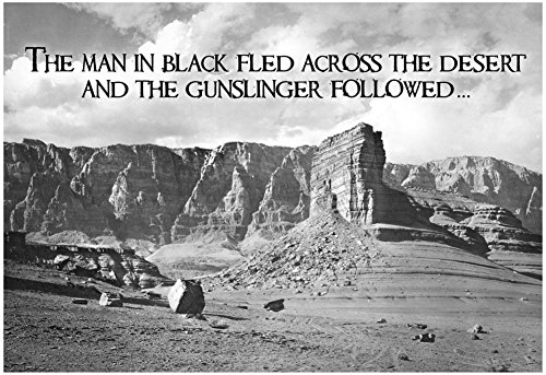 - Dark Tower by Stephen King Gunslinger Quote Poster 19 x 13in with Poster Hanger