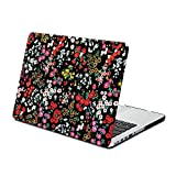 MacBook Pro 13 Retina Case, GMYLE Hard Case Print Frosted for MacBook Pro 13 inch with Retina display (Model: A1425 and A1502) - Retro Floral Pattern Rubber Coated Hard Cover (Not Fit For Macbook Pro 13)
