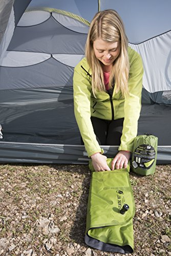 KLYMIT Static V2 Sleeping Pad, Ultralight, (12% Lighter), Great for Camping, Hiking, Travel and Backpacking 5 NEW AND IMPROVED: The most popular camping pad on Amazon just got 12% lighter and more backpacker friendly; Weighs only 16.33 oz INCREDIBLY LIGHTWEIGHT: New high end lighter fabrics for smaller pack size and weight.Dimensions: Inflated 72 x 23 x 2.5 inches V-CHAMBER DESIGN limits air movement and heat loss; Also provides better support and comfort