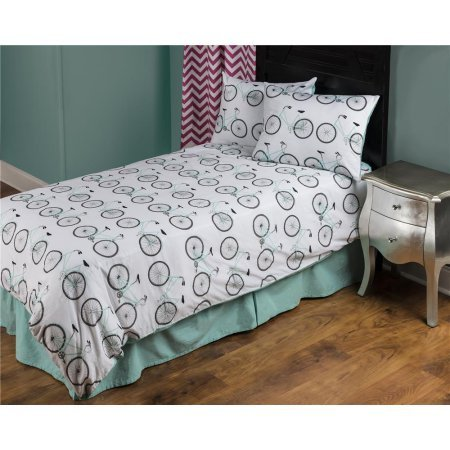 Rizzy Home Bicycle Aqua Cotton Twin Kids Comforter Set by Rizzy Home