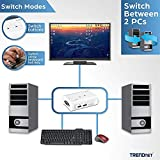 TRENDnet 2-Port USB KVM Switch and Cable