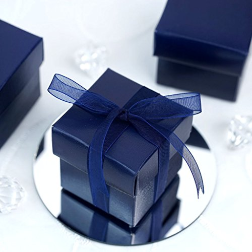 Blue Favor Boxes - Efavormart 100 Boxes Navy Blue 2 pcs Favor Boxes for Candy Treat Gift Wrap Box Party Favor Boxes for Bridal Shower Wedding Party