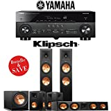 Klipsch RP-280F 5.1-Ch Reference Premiere Home Theater System with Yamaha AVENTAGE RX-A770BL 7.2-Ch 4K Network AV Receiver
