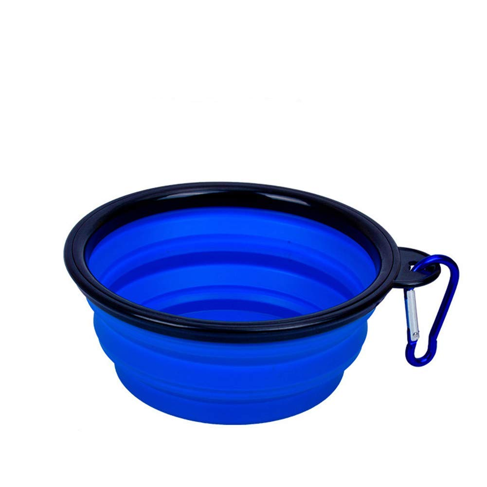 I WU-pet supplies Dog Drinking Water Bowl pet accompanying Cup Outdoor Hyena Portable Folding Silicone Bowl, I