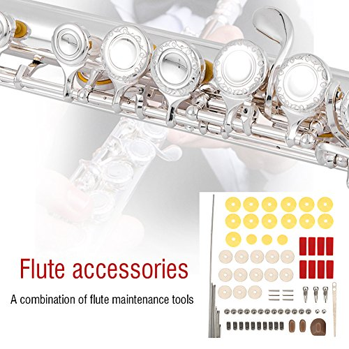 Replacement Reed Blocks (Flute Repair Parts Set Tools Kit Practical DIY Repair Maintenance Kit Set Musical Instrument Parts Accessories for Flute, Flute Repair Screws, Rollers, Pads, Reed, Pin Bolts)