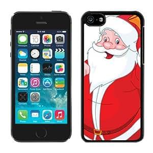 Best Buy Iphone 5C TPU Case Santa Claus Black iPhone 5C Case 32